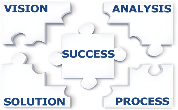 Vision, Analysis, Process, Solution, Success